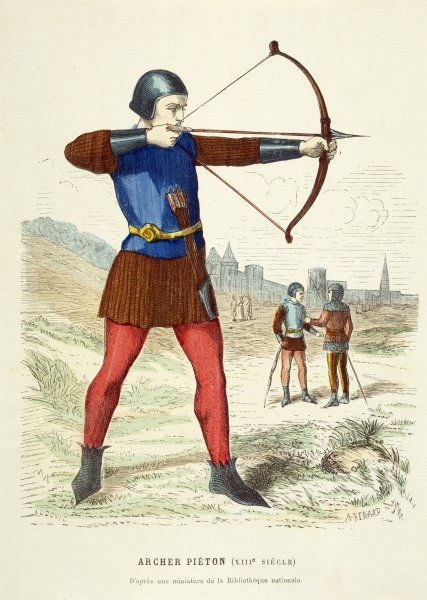 A French Bowman takes aim