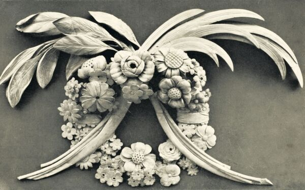 Architectural Details - carving by Grinling Gibbons in St. Paul's Church, Covent Garden, where the architect worshipped and is buried