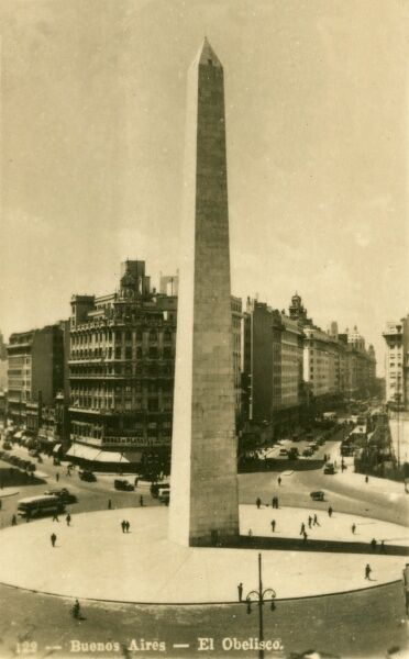 Argentina - Buenos Aires - The Obelisk. Photo (40/40) from a fold-out set
