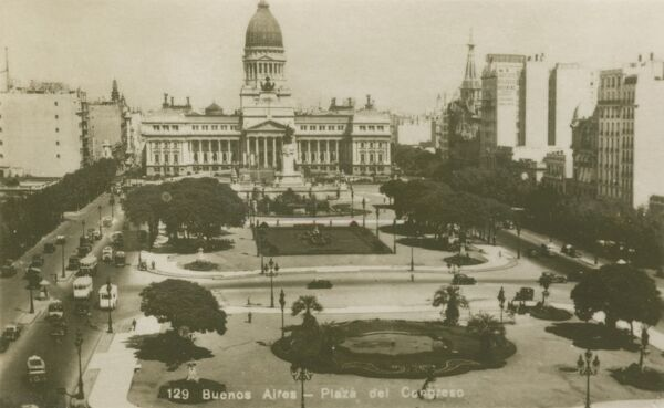 Argentina - Buenos Aires - Plaza of Congress. Photo (17/40) from a fold-out set