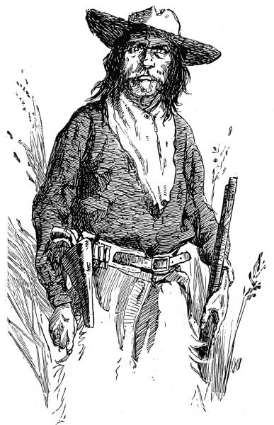 Illustration of a Native American Indian scout working as an Arizona Ranger for the US Army