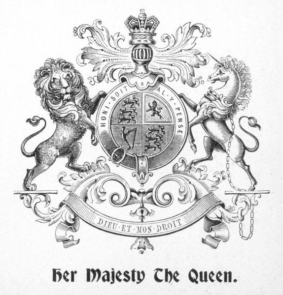 The badge or coat of arms used to signify that a manufacturer has been granted the Royal Appointment of Her Majesty The Queen. In this case Queen Alexandra