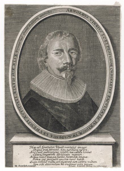 ARNOLD VINNEN Dutch jurist from Leyden