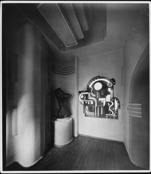 The fantastic German Art Deco interior of a house in Bremen, which belonged to Paula Modersohn-Becker (1876 - 1907), the first German artist to absorb French modernism