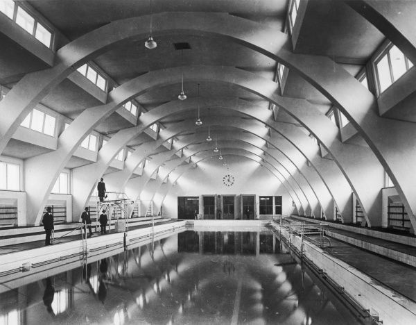 A brand new Art Deco swimming pool in Germany