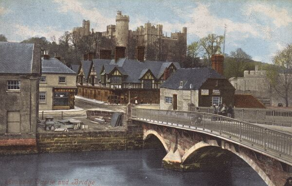 Arundel, West Sussex - Castle and Bridge Date: circa 1910s