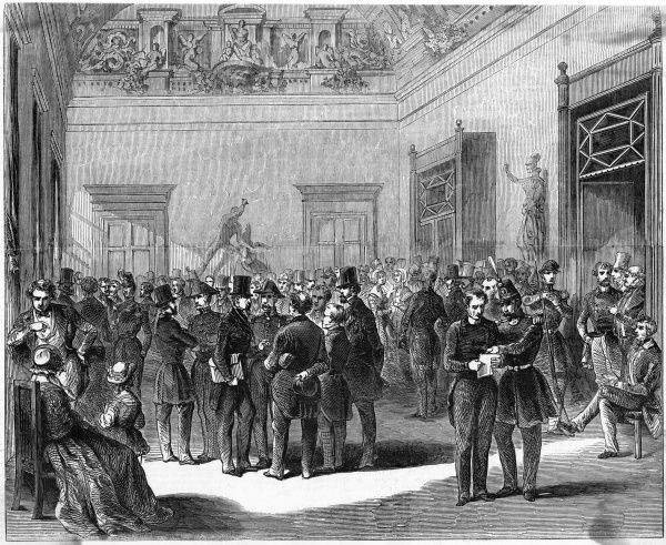 The Assemblee Nationale on the eve of the July revolution : these well-behaved gents will soon be at one another's throats