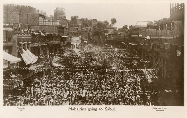 Picture from the height of the Khilafat Movement against British rule - Peshawar, Pakistan