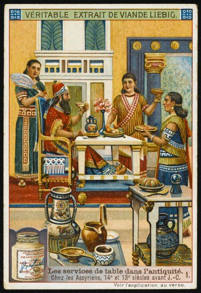 The ancient Assyrians at table