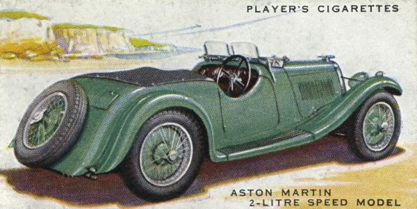 The Aston Martin 2-litre Speed model - a fun car at L700+. Date: 1937