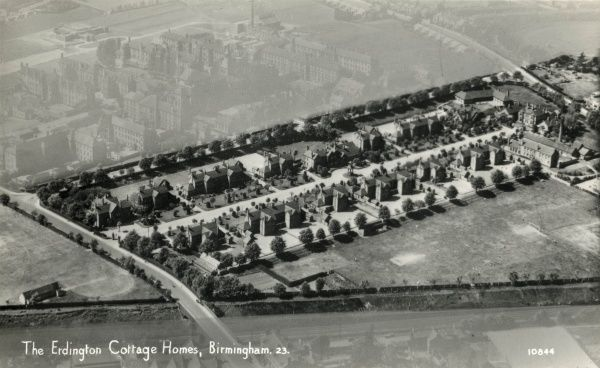 Aerial view of Aston Union's cottage homes which were opened in 1899 at Erdington, Birmingham