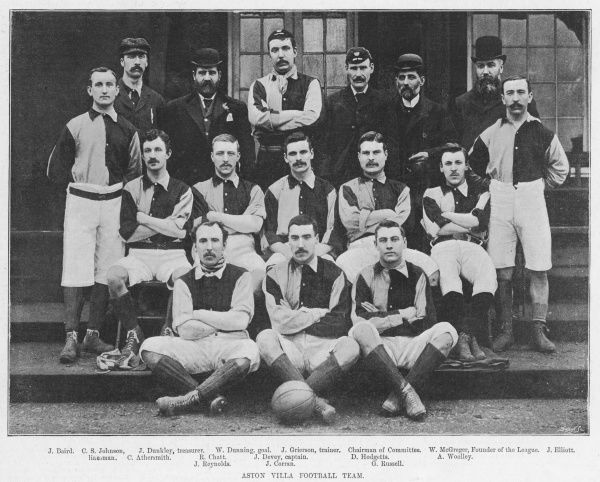 Team photograph of Aston Villa in First Division champions in 1894