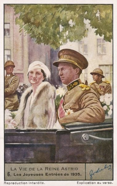 Astrid with Leopold III who came to the throne in 1934