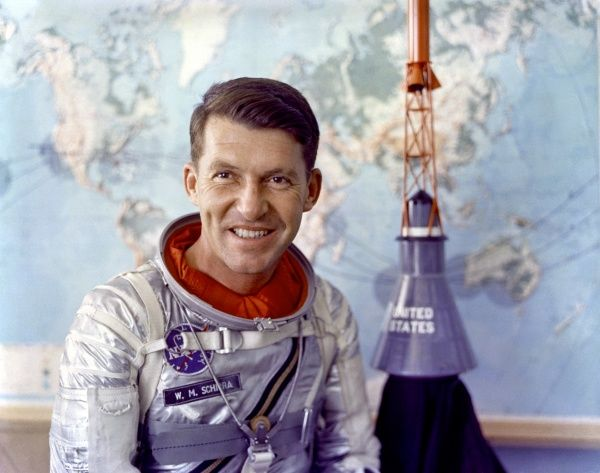 WALTER SCHIRRA One of the original Mercury 7 astronauts chosen for the Project Mercury, America's first effort to put men in space