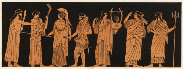 The marriage of Athena with Herakles