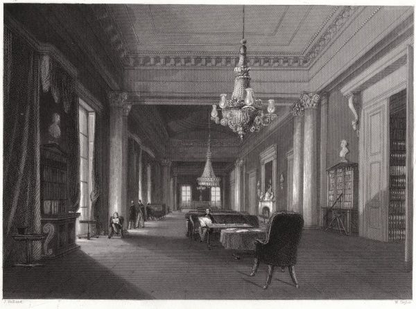 The drawing room at the Athenaeum