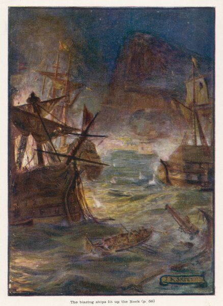 Combined French & Spanish naval attack on Gibraltar is destroyed by the British