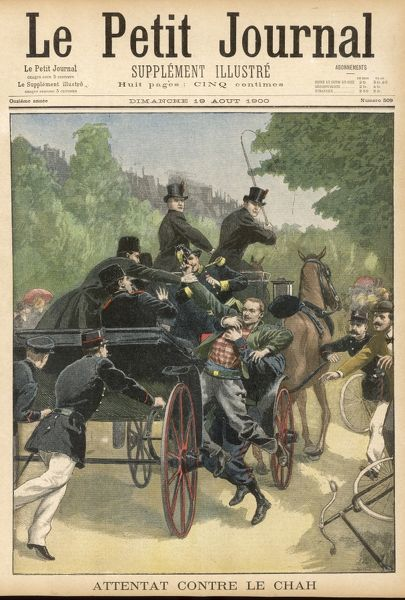 Attack on the Shah in Paris