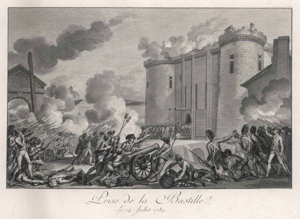 PRISE DE LA BASTILLE The Paris mob attacks the Bastille prison