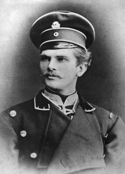 August von Mackensen (1849-1945), later a Field Marshal in the German army, seen here as a volunteer with the Prussian 2nd Life Hussar Regiment in the first year of his army service. Date: 1869