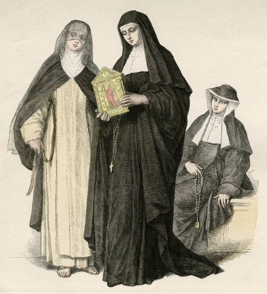 AUGUSTINIAN NUNS one holds an ikon Date: late 19th century