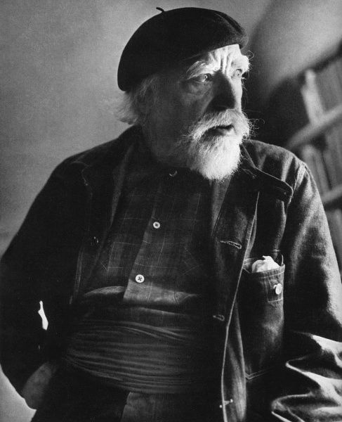 Augustus John (1878 - 1961), British painter and notorious Bohemian, pictured at the age of sevnty-six. Date: 1953