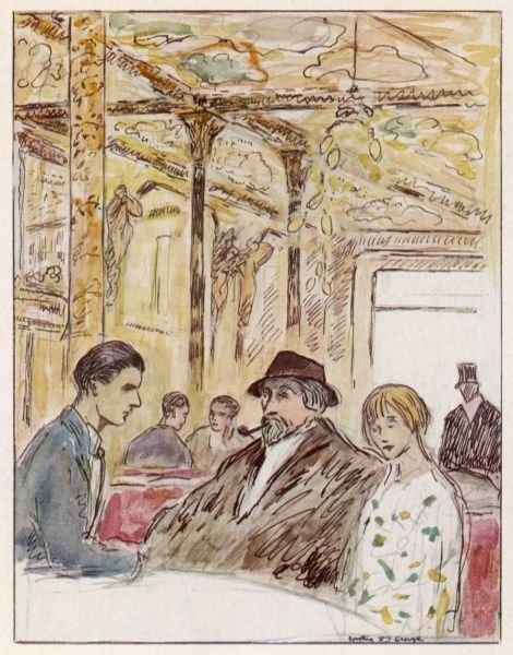 AUGUSTUS EDWIN JOHN The artist and friends at the Cafe Royal in London