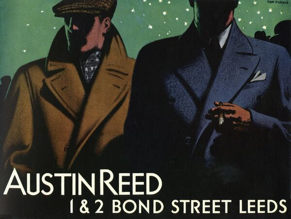 Austin Reed Tom Purvis Advertisement For Mens Overcoats 14159929