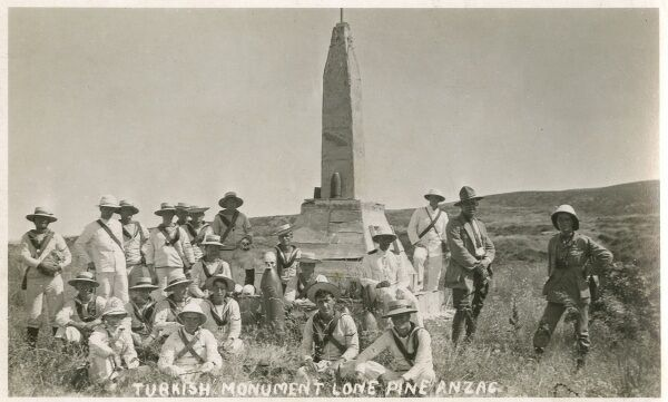 Australian Sailors visiting Gallipoli Sites - surrounding the Turkish Monument at Lone Pine