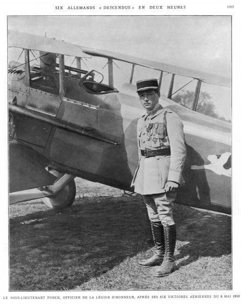 PAUL-RENE FONCK French WW1 Aviator Photo : 8 May 1918