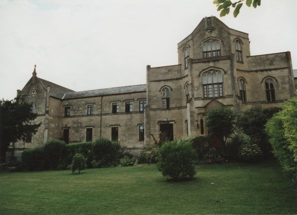 The Axbridge Union Workhouse, Somerset. The building, erected in 1837, was designed by Samuel T Welch. The site later became St John's Hospital. Date: 2000