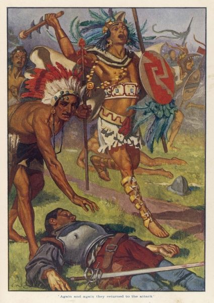 Despite the loss of the Fort of Xoloc and the raising to the ground of the Old Palace at Tenochtitlan, the exhausted Aztecs fight furiously