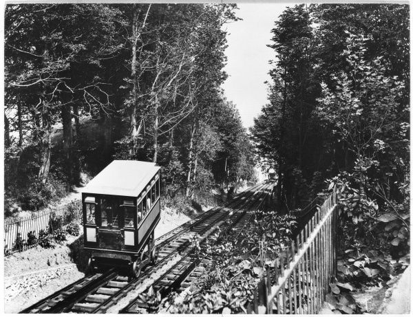 Babbacombe Cliff Railway which links Babbacombe Downs with Oddicombe Beach