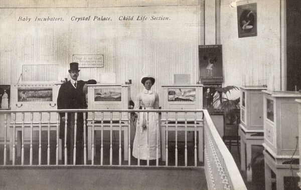 Baby Incubators - Crystal Palace - 'Child Life Section' Date: circa 1908