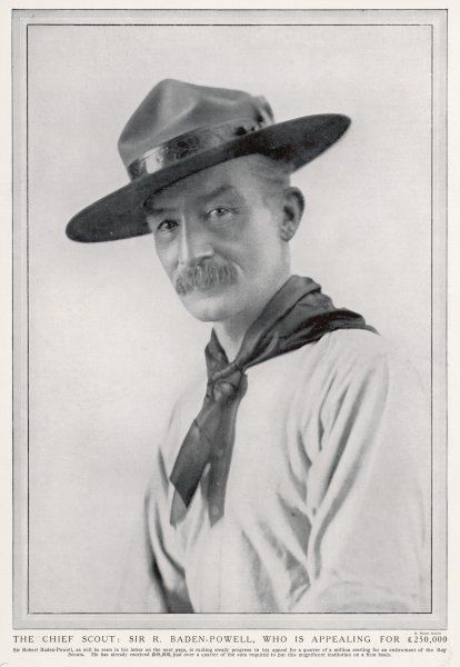 LORD ROBERT STEPHENSON SMYTH BADEN-POWELL English army officer and founder of the Scout Movement