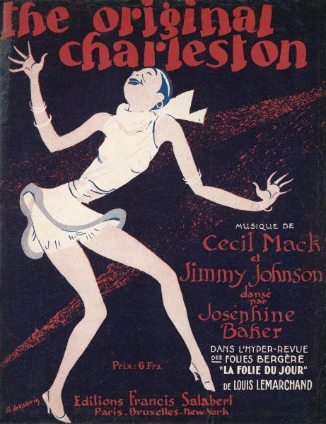 'THE ORIGINAL CHARLESTON' as danced by Josephine Baker at the Folies-Bergere, Paris