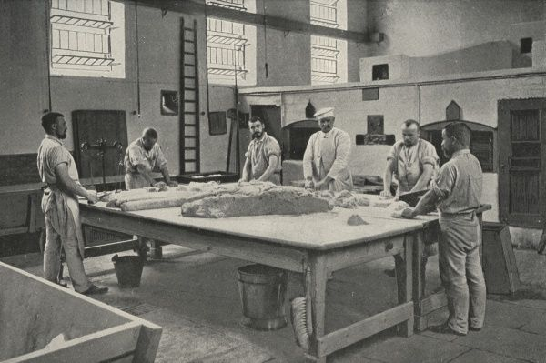 Scene in the bakery at Wormwood Scrubs Prison, West London