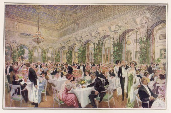 A Ball supper in the Salon de Verdure at The Savoy, London