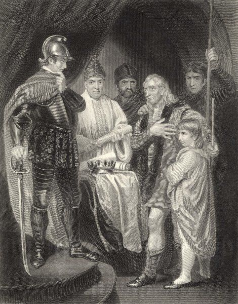 John Balliol surrenders his crown to King Edward of England in a humiliating ceremony at Kincardine Castle, Scotland