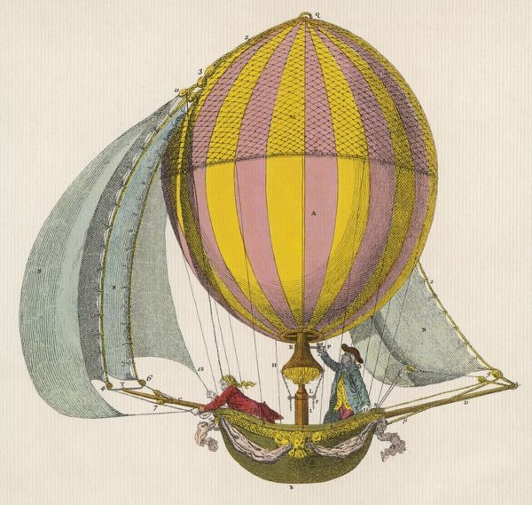 French project for a dirigible balloon : by an unidentified inventor