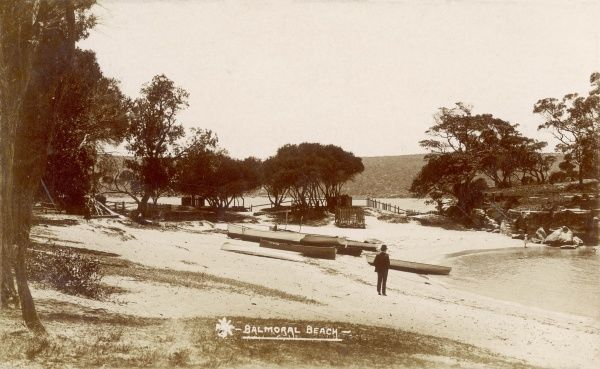 Balmoral Beach, Sydney, Australia in the 1900s