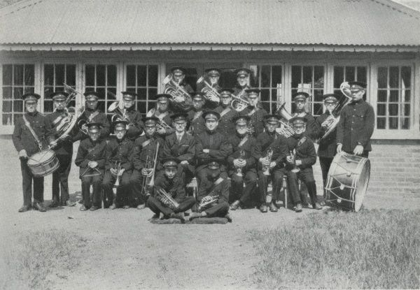 The military band at the Darenth Training Colony near Dartford in Kent. The colony, for adult 'mental defectives', was set up by the Metropolitan Asylums Board in 1904 as an addition to the existing Darenth Schools site