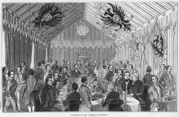 The banquet hosted by the Duke of Devonshire as part of his fete celebrations at Chiswick House