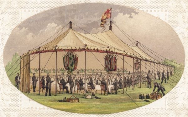 Banquet in a marquee