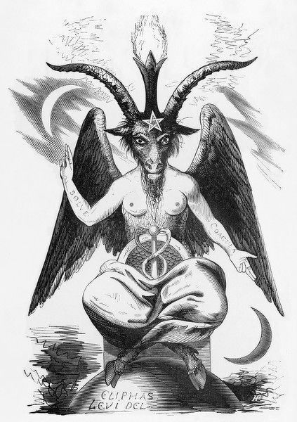 The EVIL ONE can take many shapes, but this is his TRUE shape, in which he was worshipped by the Templars as Baphomet, some allege