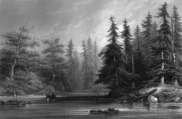 near Saratoga, New York state. Date: 1850
