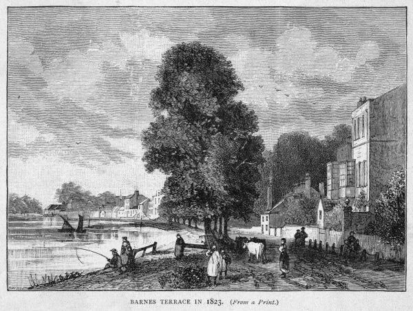 Barnes Terrace, fronting on the Thames
