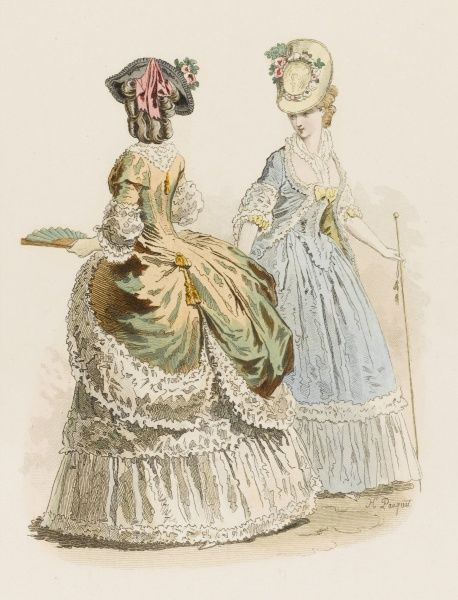 Two baronesses at the court of Louis XVI, just before the revolution