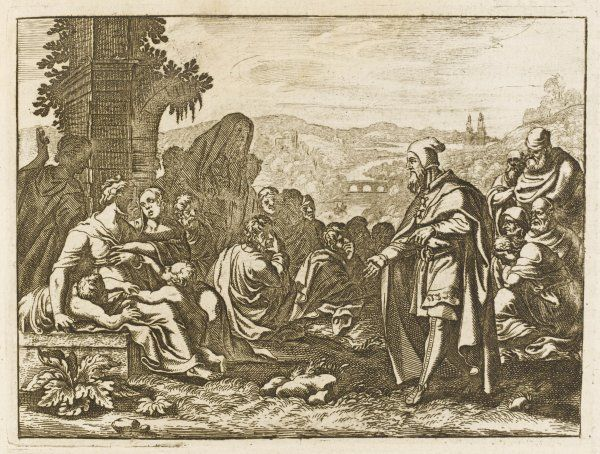 Baruch, having served as secretary to the prophet Jeremiah, becomes a prophet in his own right