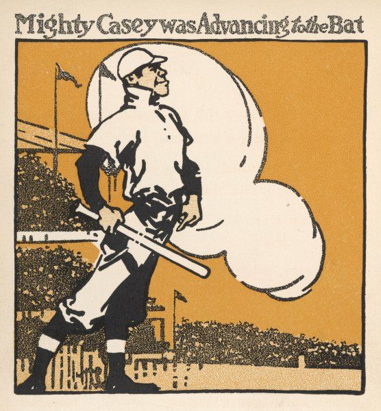 'Mighty Casey advancing to the bat&#39